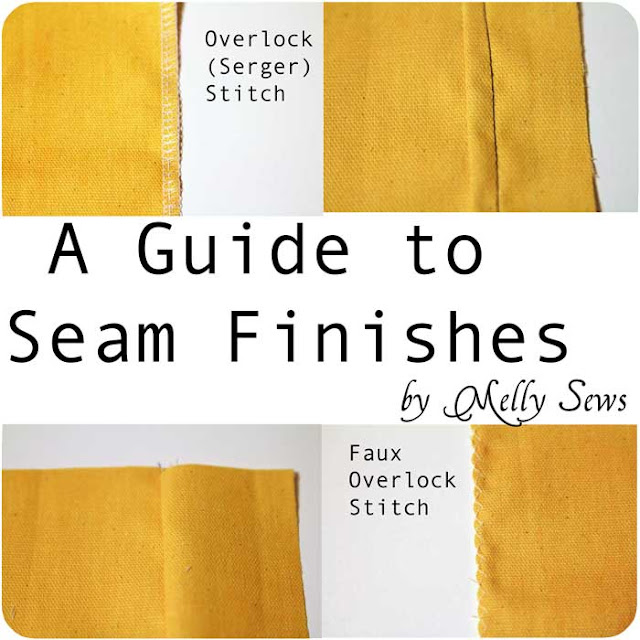 How to finish seams - Melly Sews