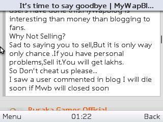 MyWapblog shut down