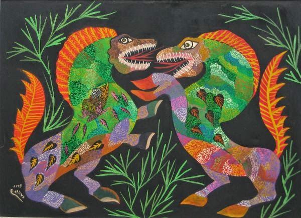 Dragões - Chico da Silva e suas pinturas primitivista ~ Pintor brasileiro
