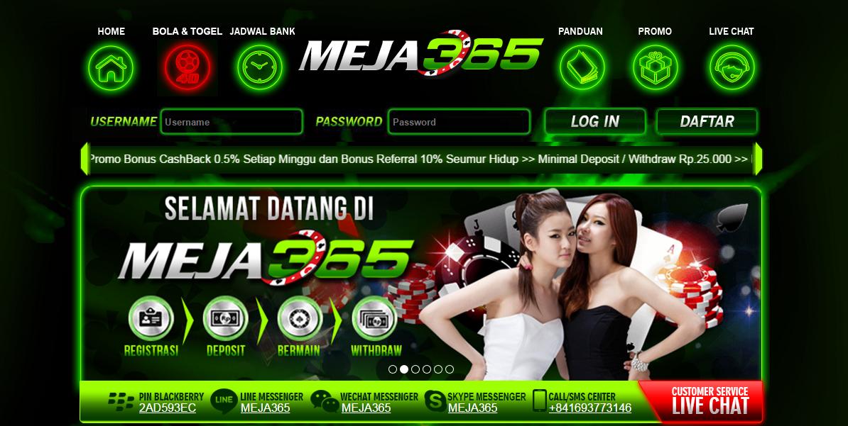 Situs Judi Online DominoQQ Meja365