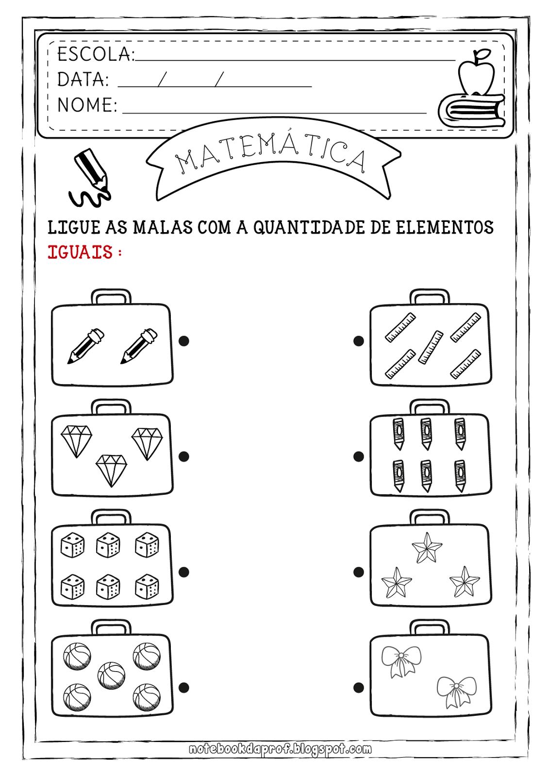 Notebook Da Profa Atividades De Matematica