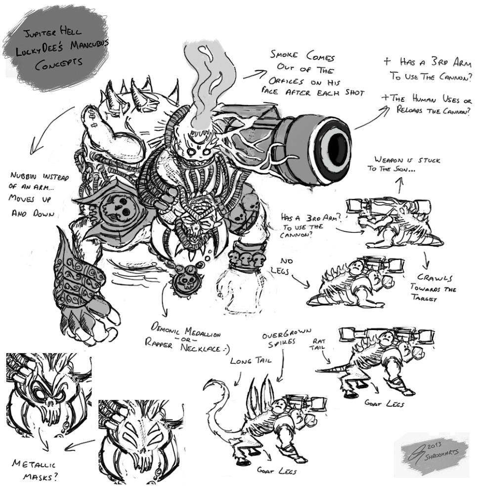 Jupiter hell mancubus concept art