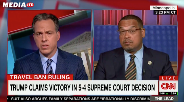 Keith Ellison Erupts After CNN's Tapper Confronts Him Over Farrakhan Ties: 'That's Not True!'