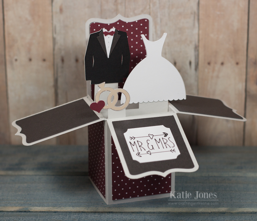 crafting with katie Wedding Box Card – Wedding Box for Cards