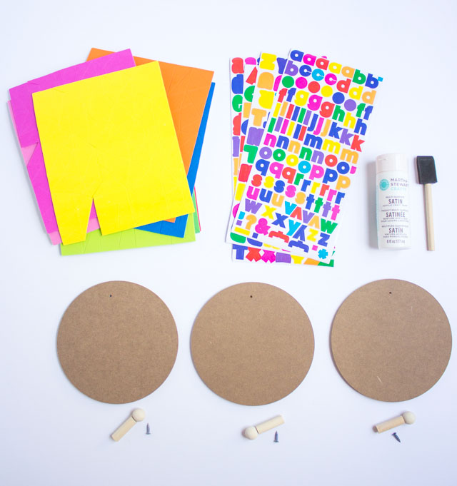 Lovely Supplies for DIY Geometric Wall Hooks