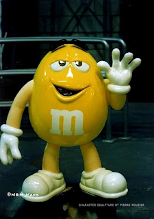 "pierre rouzier_M&M Mars ""yellow"" sculpture"