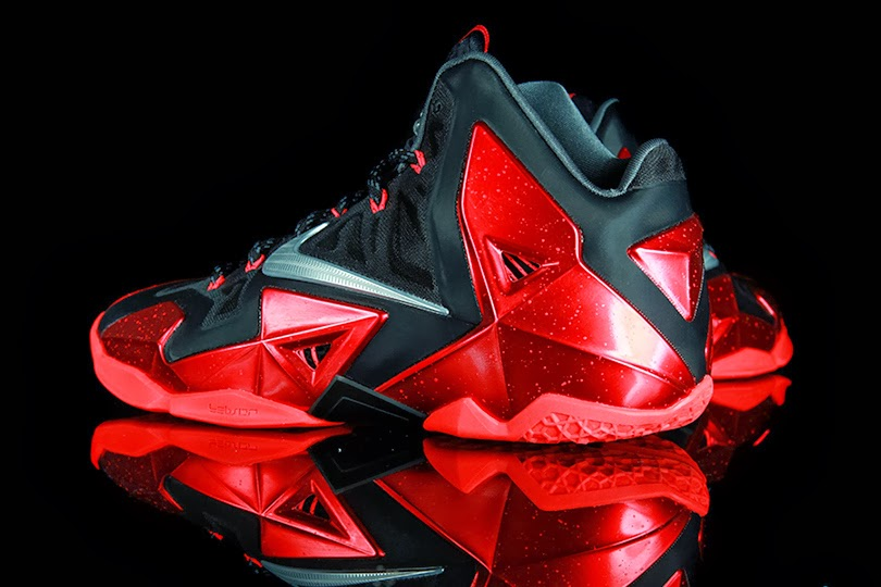 premium selection c5864 a048f Nike LeBron 11 Black Metallic Silver-University Red-Bright Crimson