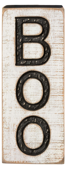 PRIMITIVES BY KATHY Carved Boo Sign