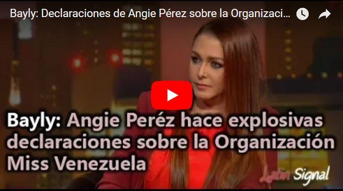 """Angie Perez descarga la cañería del burdel llamado """"Miss Venezuela"""""""