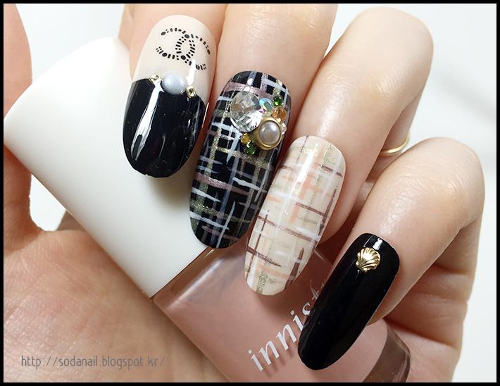 Sodanail Tweed Nail Art Design 2016
