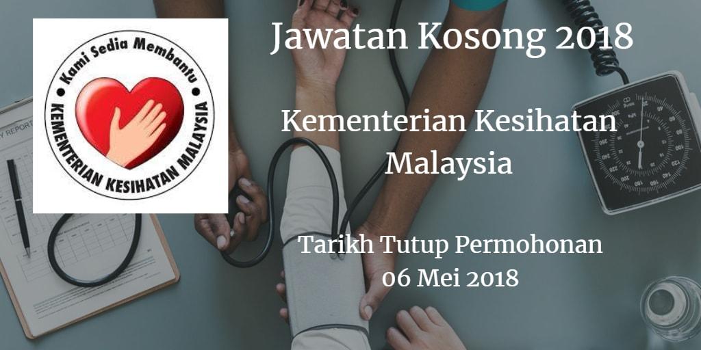 Jawatan Kosong KKM 06 Mei 2018