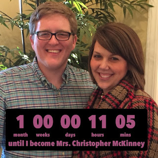 1 month to #becomingmrsmckinney!!!