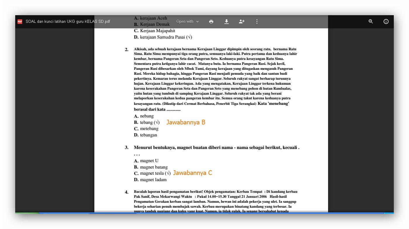 Info Guru Download 100 Soal Latihan Ukg 2015 Untuk Guru Sd Dan Kunci Jawaban File Sekolah