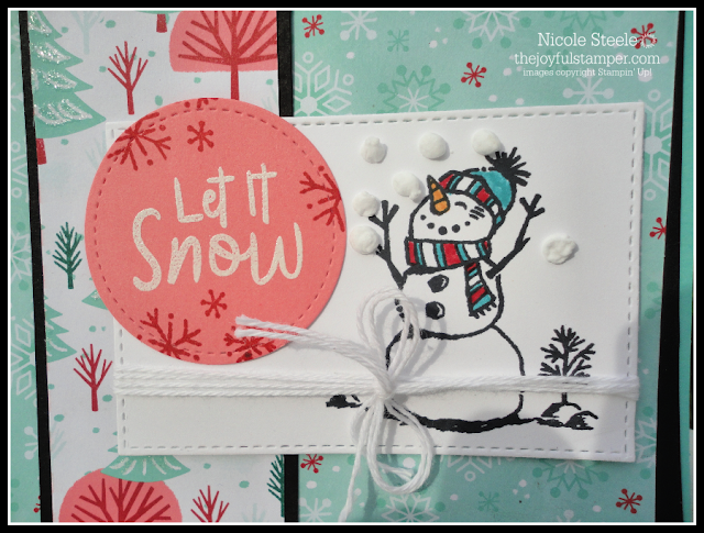 Stampin' Up!'s Snowman Season card using Splitcoaststamper Sketch 774