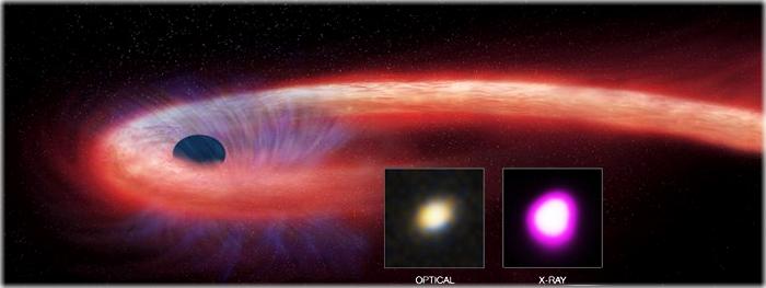 buraco negro engolindo uma estrela há 10 anos