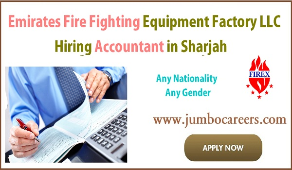 Latest Accountant Jobs in Sharjah with Free Visa at FIREX UAE 2018