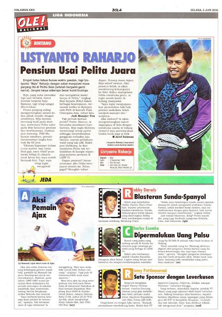 LIGA INDONESIA PROFIL BINTANG LISTYANTO RAHARJO