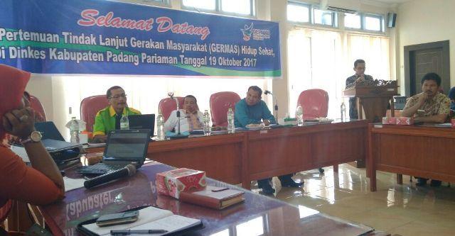 Pemerintah Kabupaten Padang Pariaman Ajak Wali Nagari Lakukan Germas