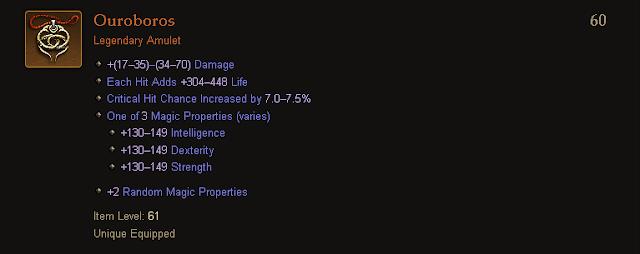 Diablo 3 | Legendary and Set Amulets Table