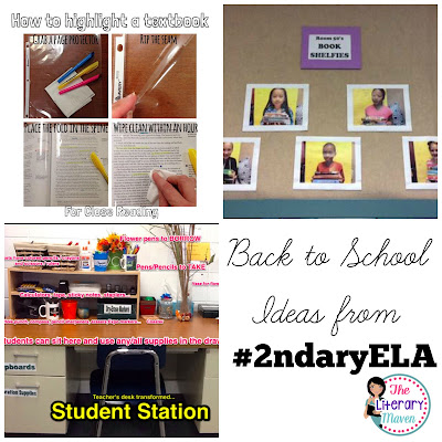 Middle School & High School English Language Arts teachers discuss collecting student information to inform instruction, syllabi, supplies, first day/week activities, and must teach routines/procedures for the first day/week. Join #2ndaryELA Tuesday evenings at 8 pm EST on Twitter.