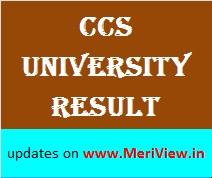 CCS University Result