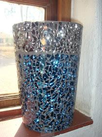 Gem Glass Mosaic Diy Mosaic Flower Pot