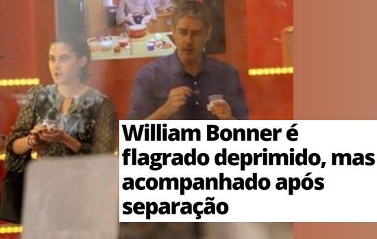 William Bonner acompanhado