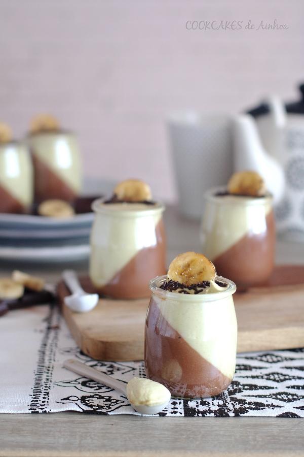Petit Suisse de Chocolate y Plátano. Cookcakes de Ainhoa