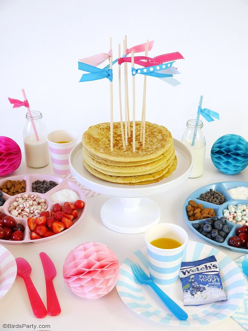 A Back to School Pancake Bar