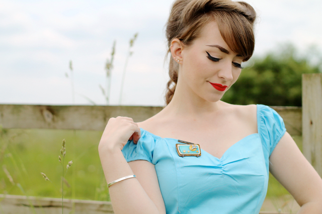 Banned Winnie top and Radio Shack Erstwilder brooch
