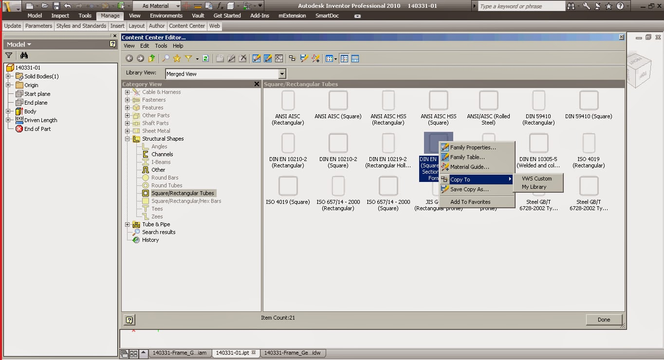 Random Stuff: Frame Generator and Content Center Steel Shapes