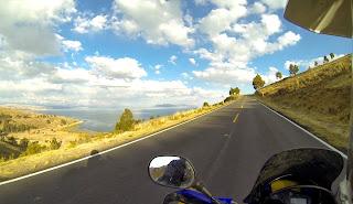 Bela vista do Lago Titicaca.