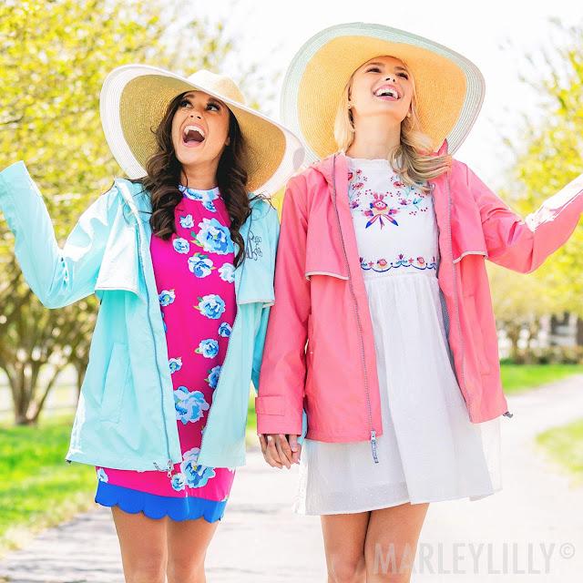 women in rain jackets