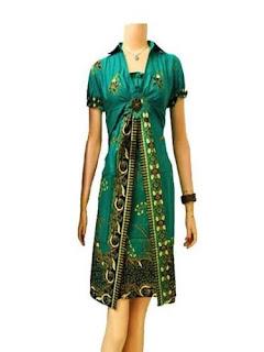 Baju Batik Modern Dress
