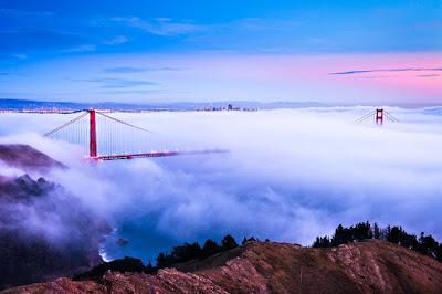 Сан-Франциско, туман, залив, Golden Gate Bridge