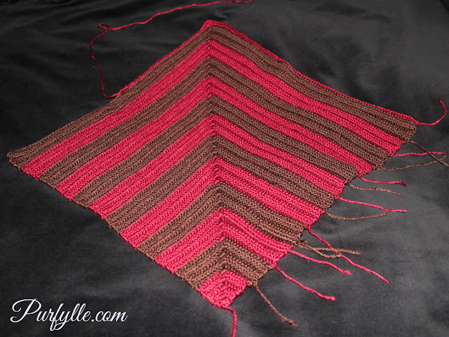 An easy crochet chevron design that can be made as big as you like.