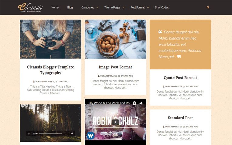 Cleansis Free Blogger Template
