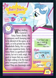 My Little Pony Fancy Pants Series 2 Trading Card