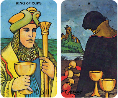 Morgan Greer Tarot Five of Cups King of Cups