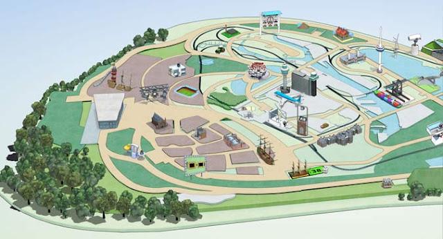Mapa del parque Madurodam en La Haya Den Haag