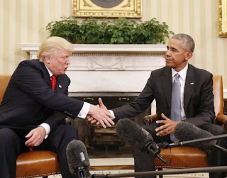 US President-elect Donald Trump and President Obama