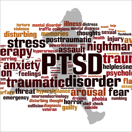 PTSD word cloud with runner