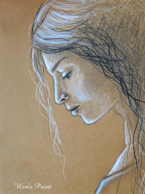 portrait drawing by Wen's Paint