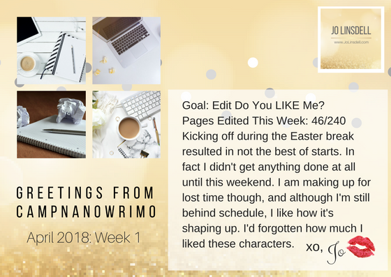 #CampNaNoWriMo Week 1 #AmEditing