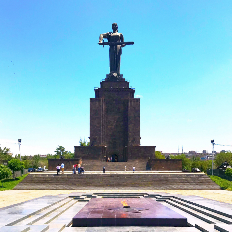 The Statue of Mother Armenia in Victory Park, Yerevan