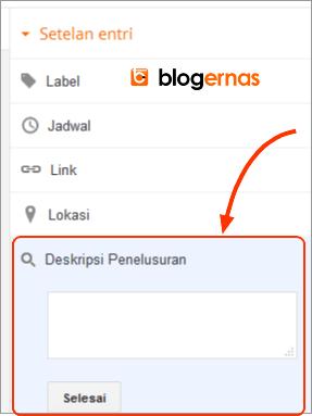 Cara Membuat Deskripsi Penelusuran pada Postingan Blog