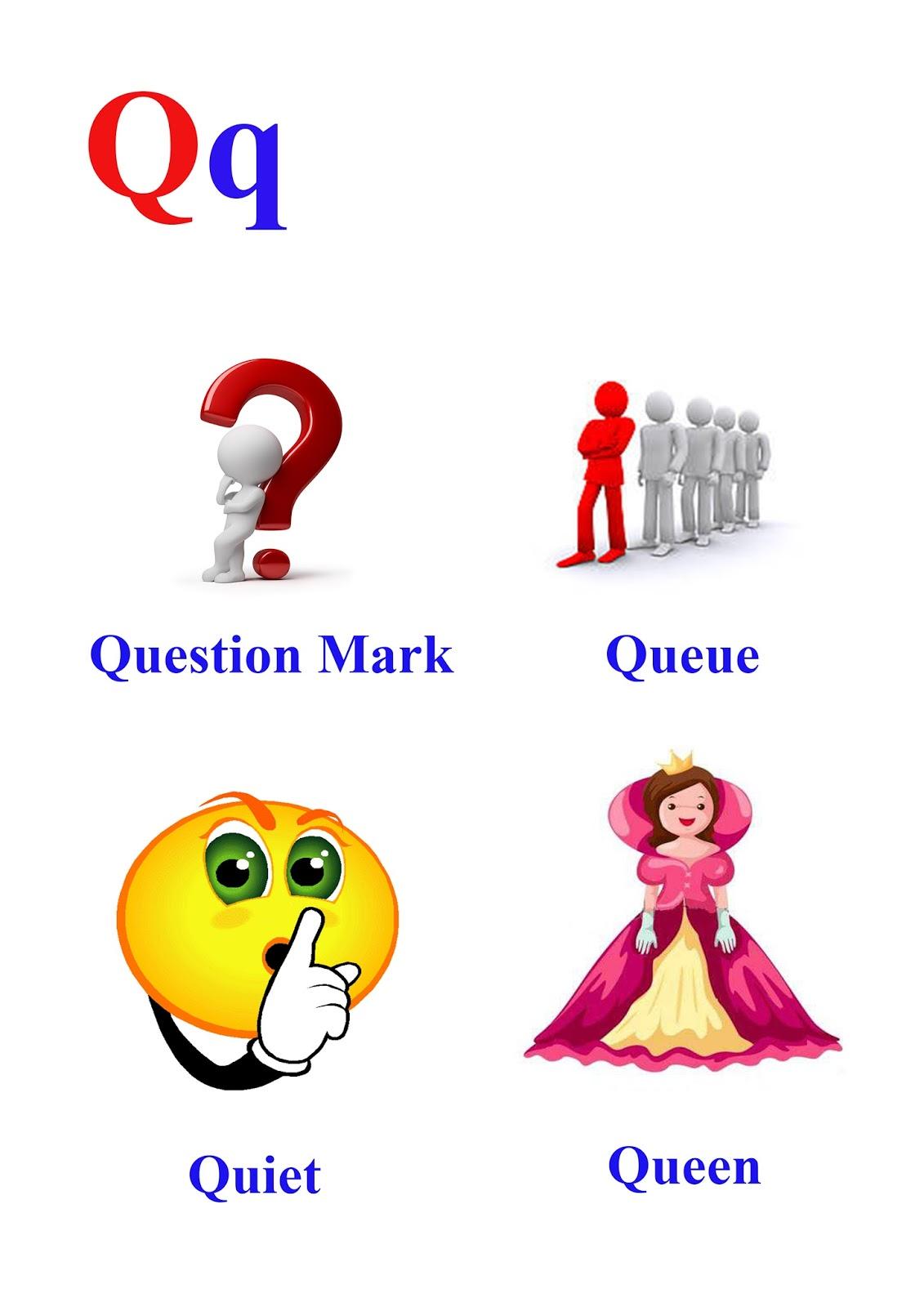 q letter words kidseasylearn