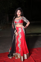 Sirisha Dasari in Red Ghagra Backless Choli ~  030.JPG