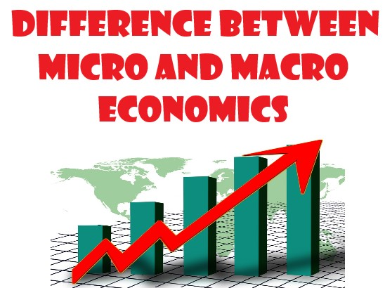 Difference between micro and macro economics: a) The distinction in Definition and scope:  Microeconomics studies individual consumer, particular for industry, income, etc. But macroeconomics deals aggregately with price level, employment, overall economic policies, etc