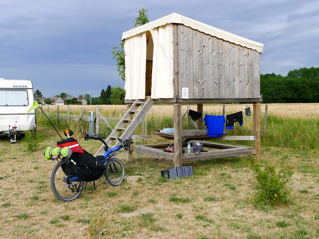 De Paris à Angers par la Loire à vélo, camping
